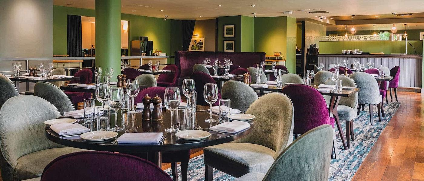 Restaurant at Hilton Cobham near Chessington Resort.