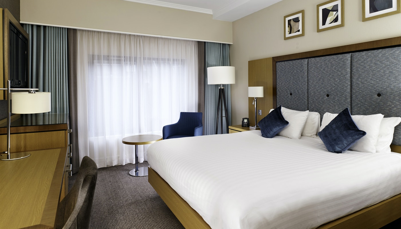 Guest room at the Doubletree by Hilton Woking