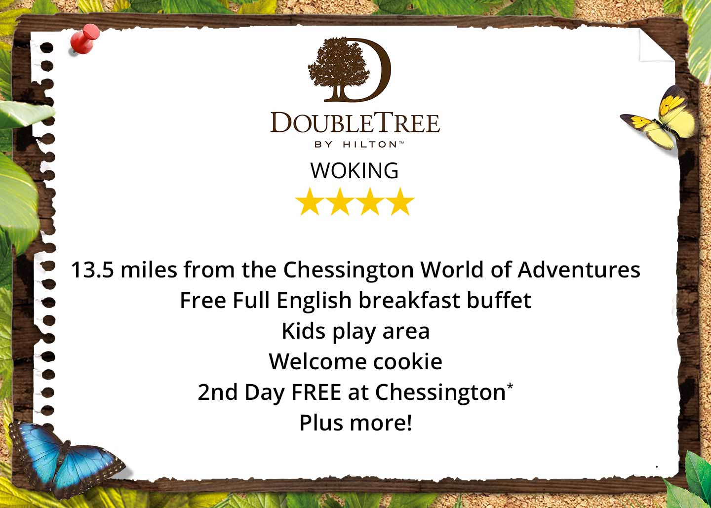 Doubletree By Hilton Woking near Chessington World of Adventures Resort