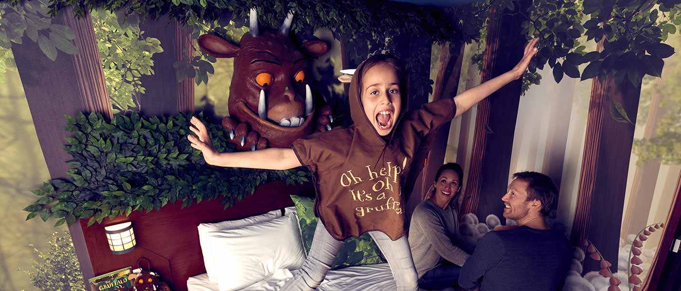 The Gruffalo themed room at Chessington Resort