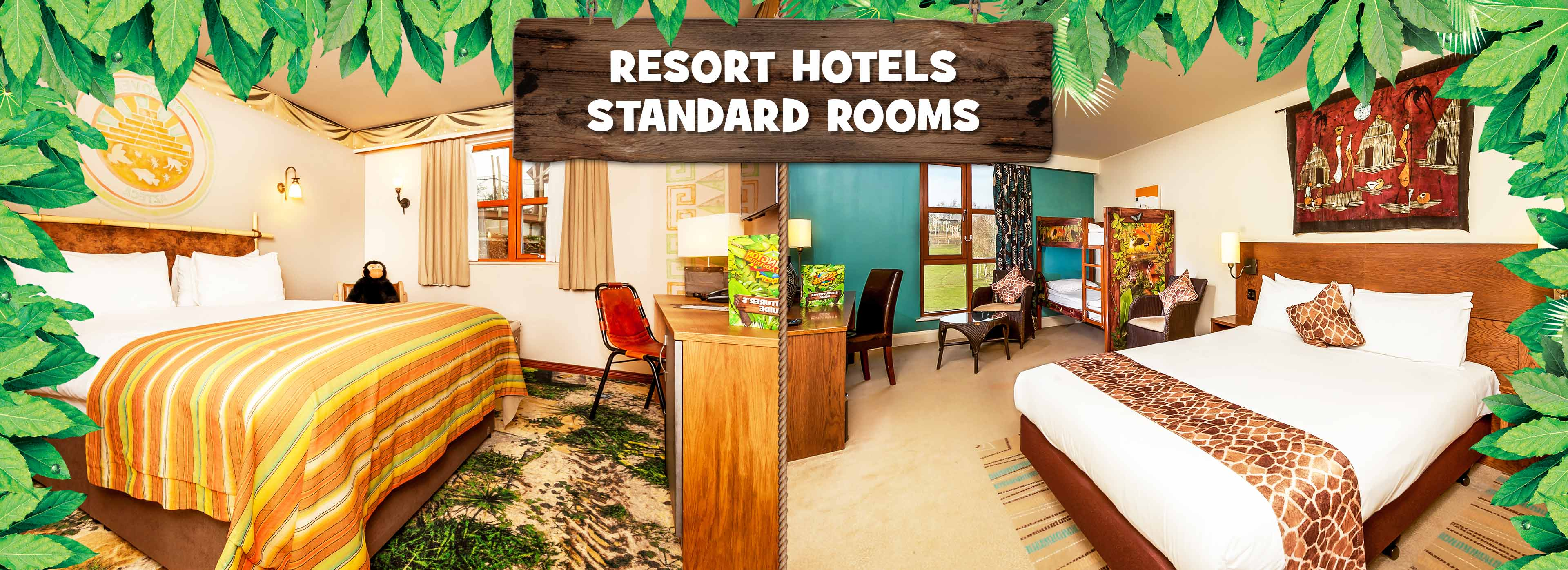 Standard rooms at the Chessington World of Adventures Resort