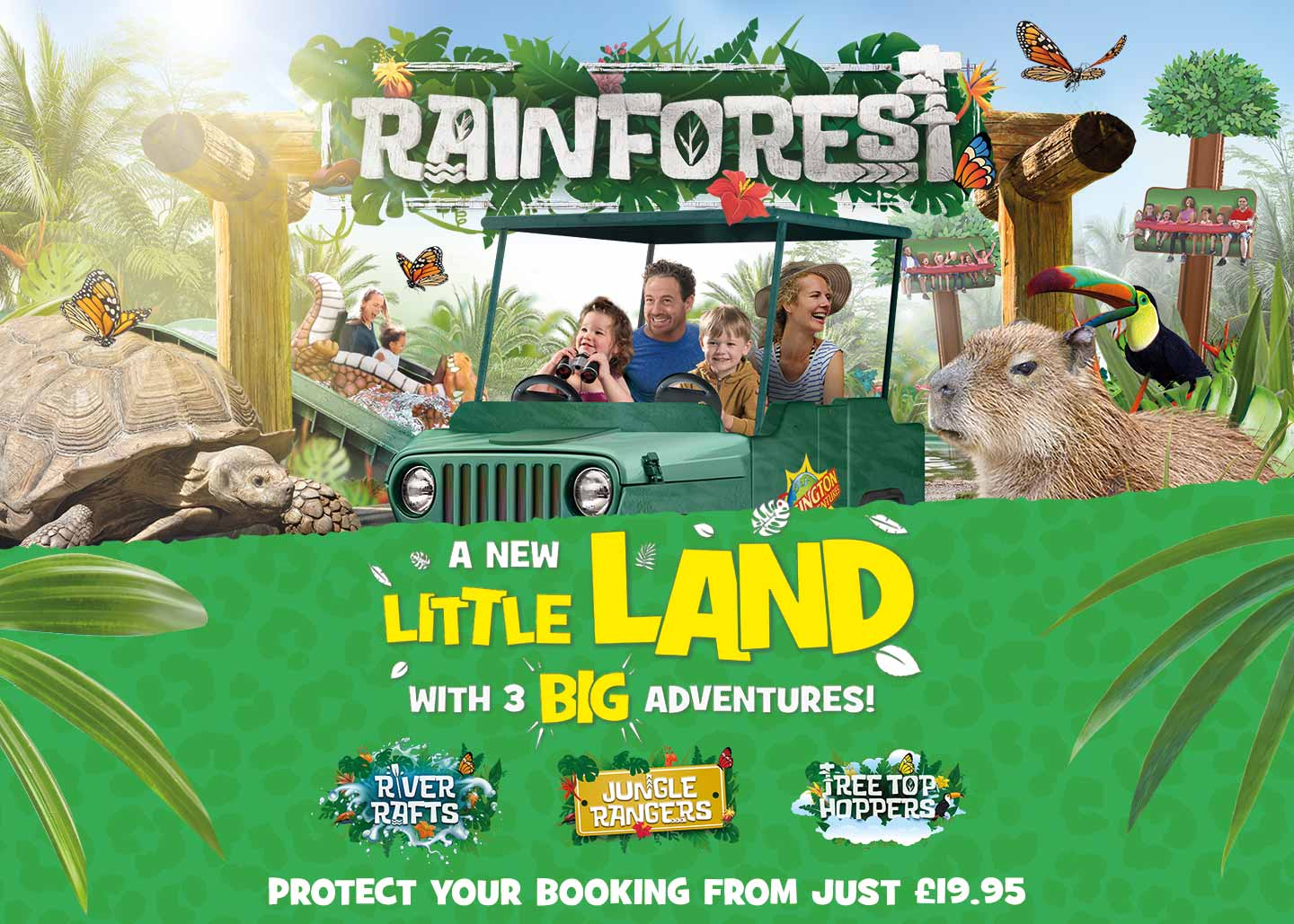 Brand new Rainforest land at Chessington World of Adventures Resort