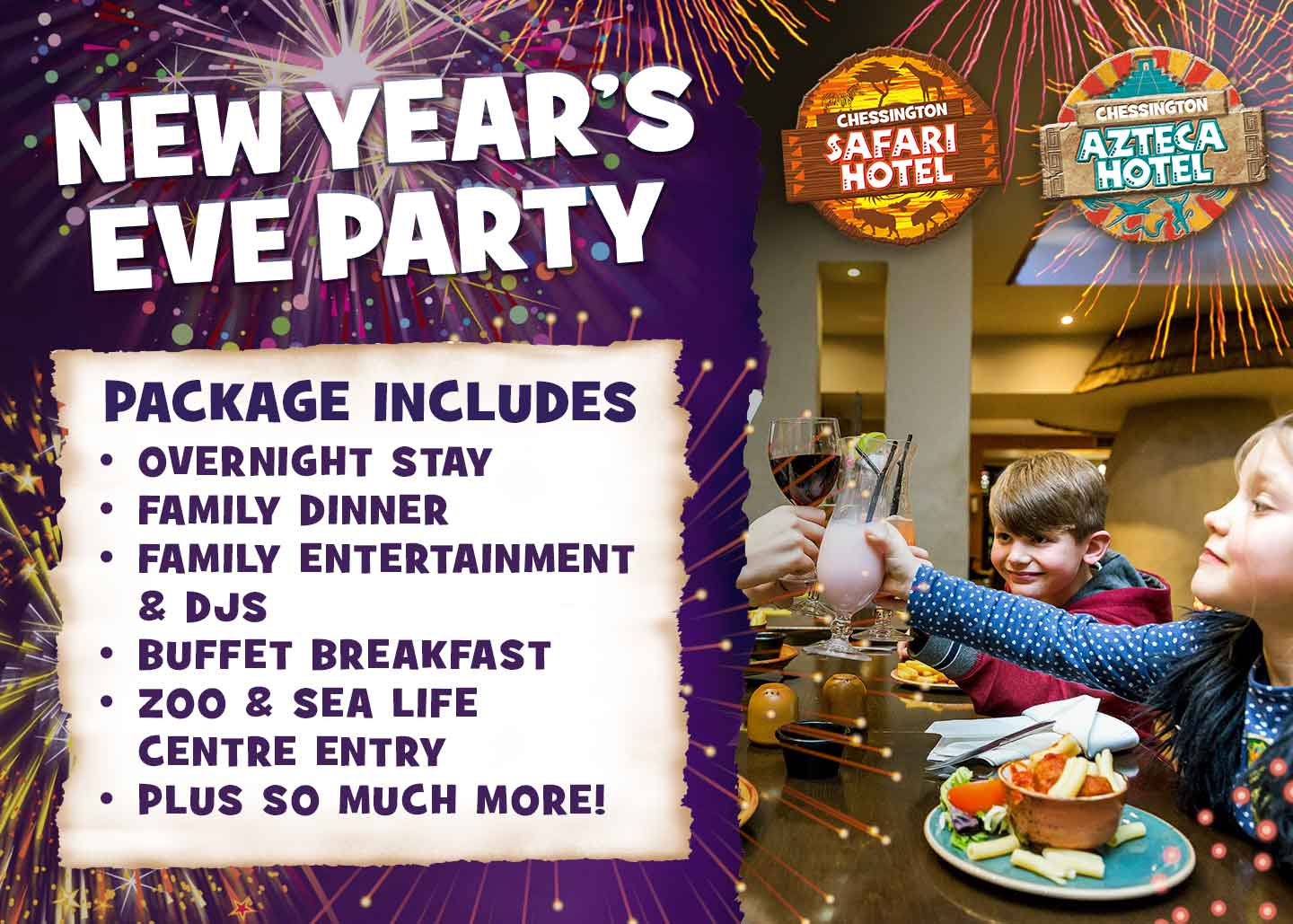 New Years Eve with Chessington Holidays