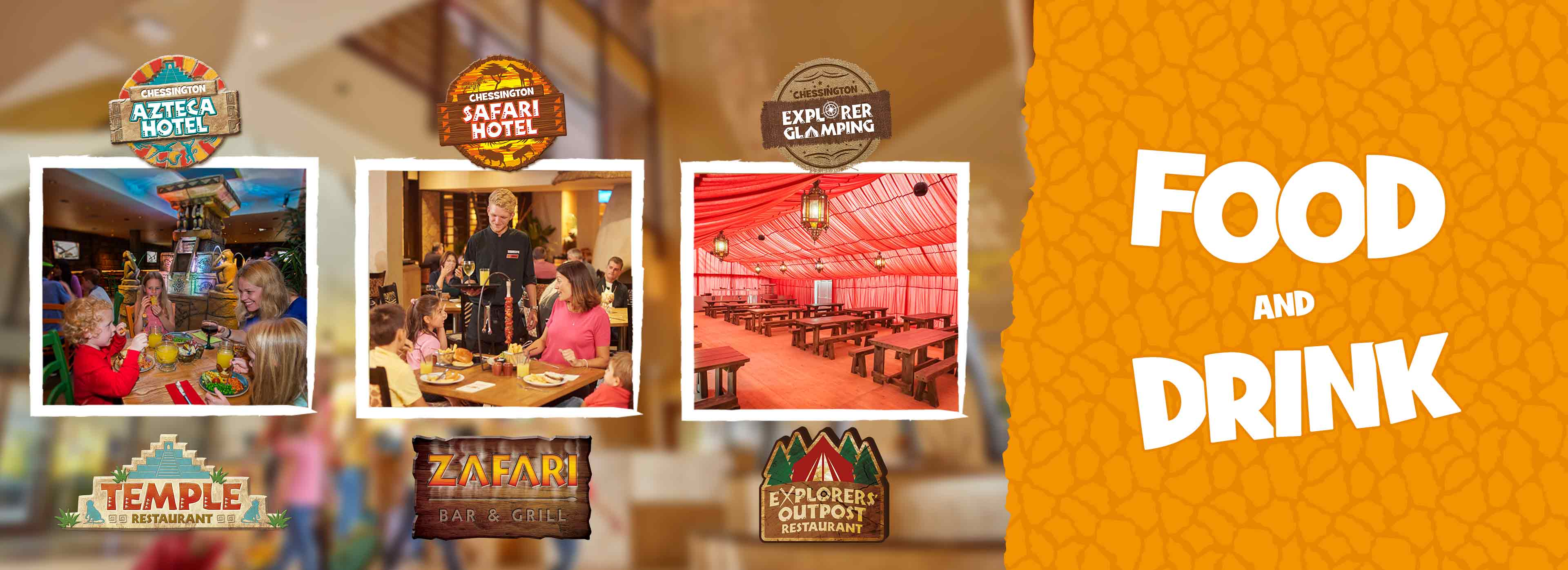 Places to eat at Chessington World of Adventures Resort