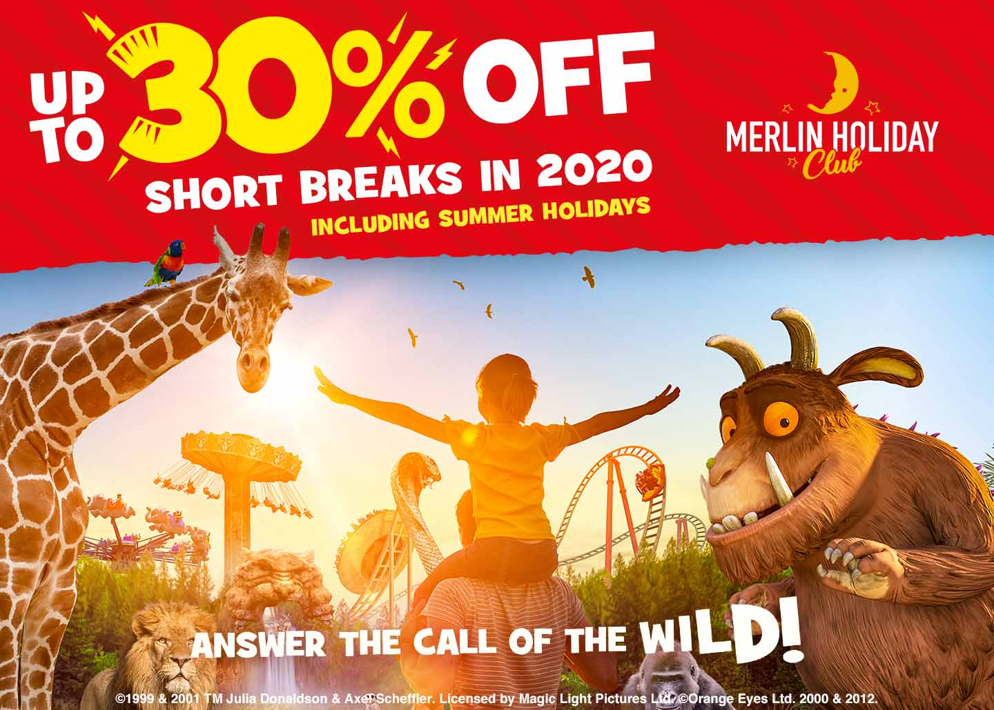 Save up to 30% on 2020 stays with your Annual Pass with Chessington Holidays.