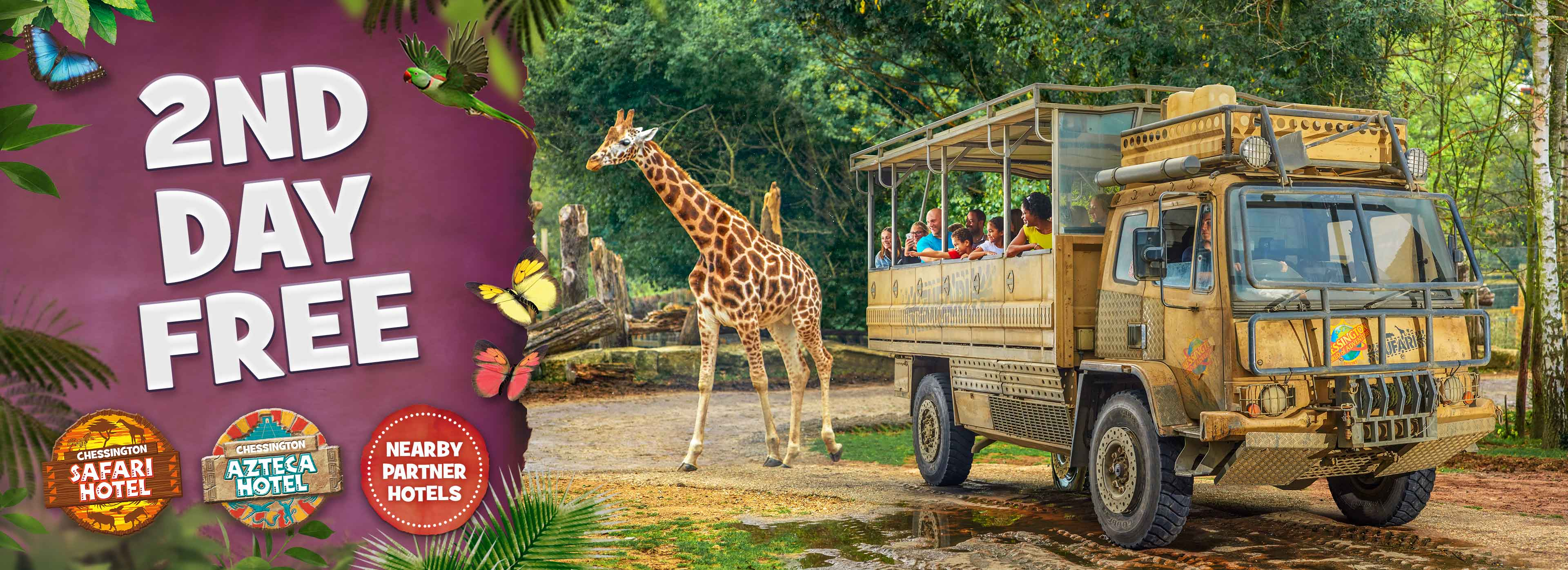 2nd Day FREE with Chessington Holidays