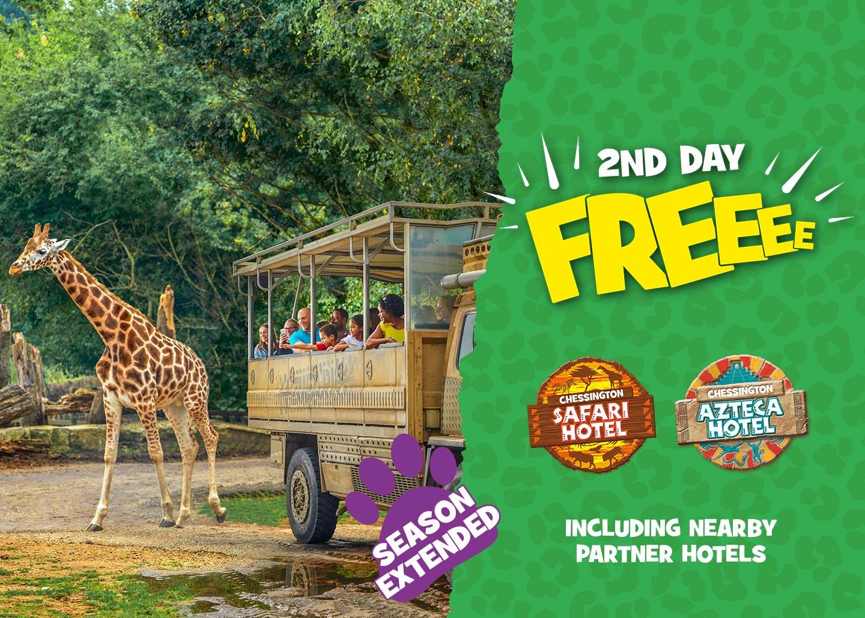 2nd Day FREE at Chessington Resort