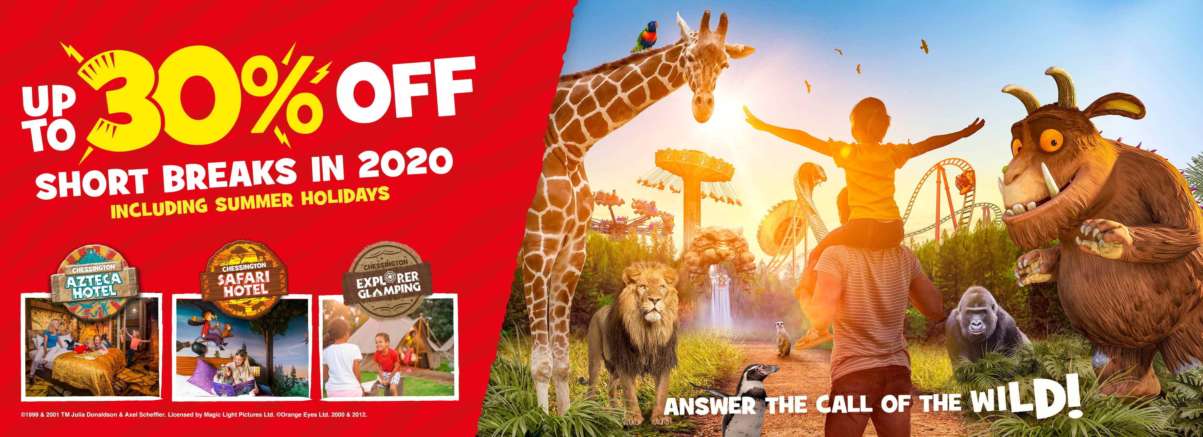 Early Booking Offer 2020 with Chessington Holidays